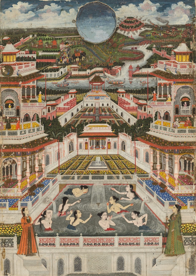 Women Bathing Before an Architectural Panorama