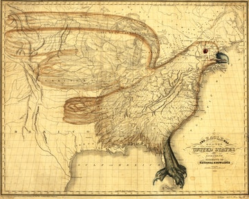 Eagle Map of the United States