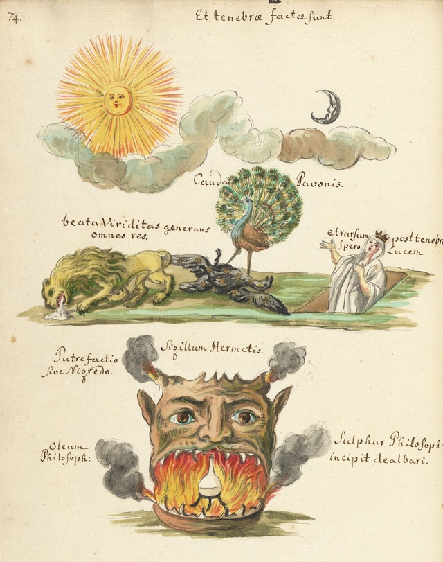 Page from a Thesaurus of Alchemy