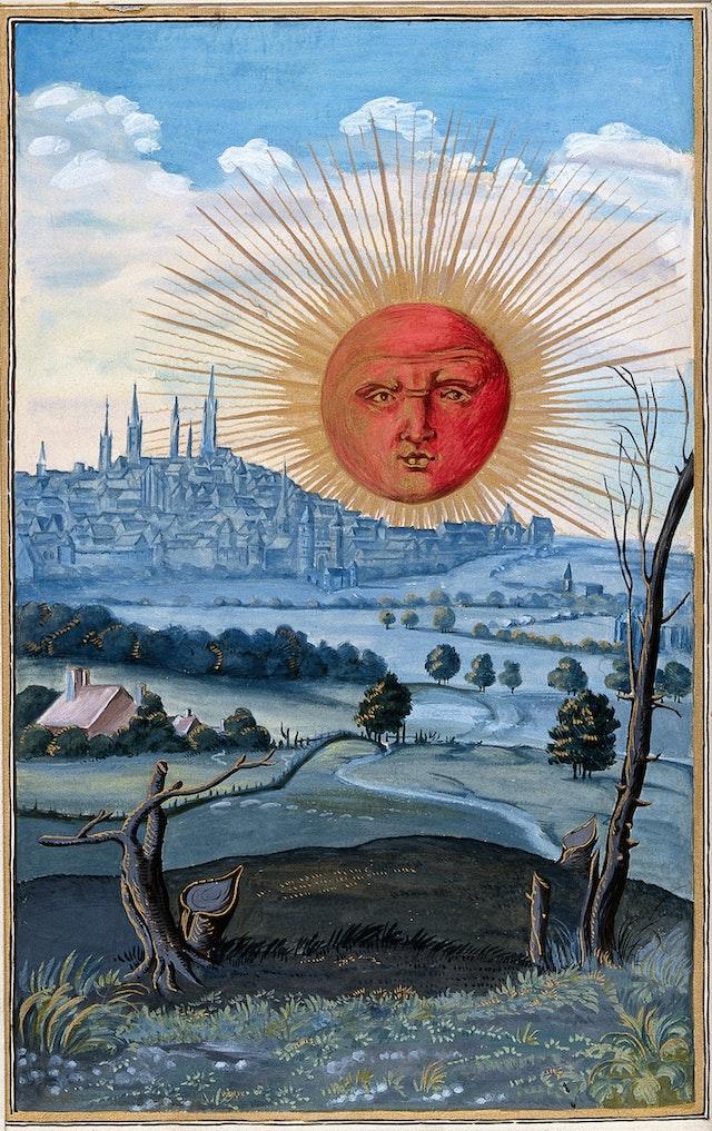 Sun Rising over the City, from Splendor   Solis