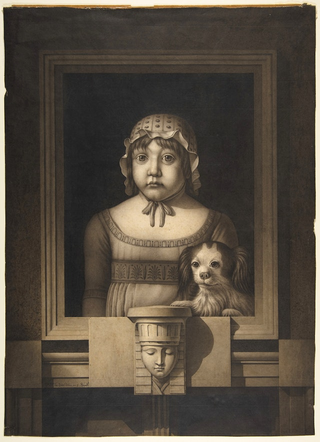 Portrait of a Girl and her Dog
