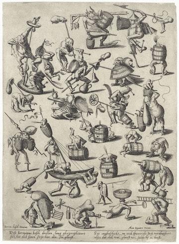 Various Fantasy Figures (after Bosch)