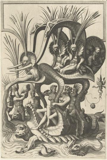 Grotesque Ornament Print: II