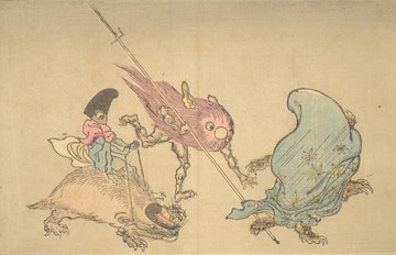 Panel from Kyōsai's Pictures of 100 Demons: I