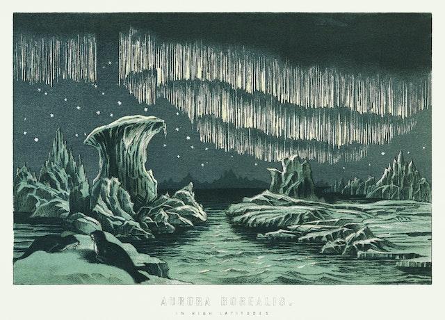 Aurora Borealis in High Latitudes