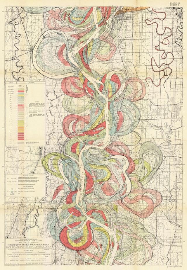 Ancient Courses: Mississippi River Meander Belt, Plate 22 sheet 9